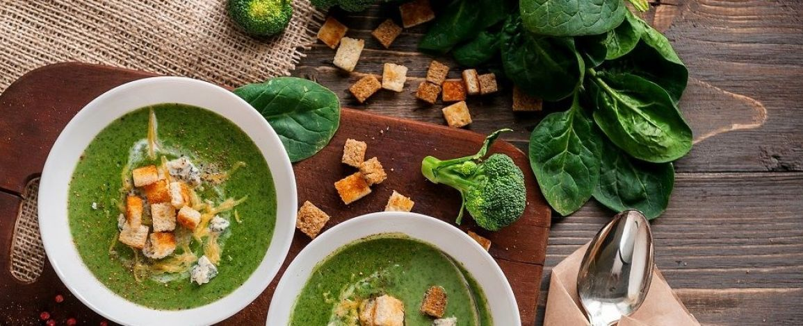 Легкий день: Зелений крем-суп