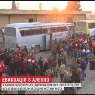 Закінчується евакуація повстанців та мирних жителів з Алеппо
