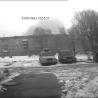 Бушуючий вулкан над будинками в Кемерово