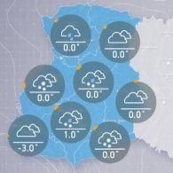 Прогноз погоди на вівторок, ранок  20  грудня