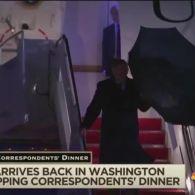 Трамп оконфузився з парасолькою