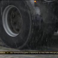 Затори з вантажівок утворилися на Тернопільщині