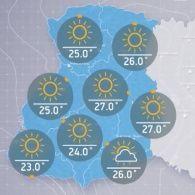 Прогноз погоди на вівторок, ранок 13 вересня