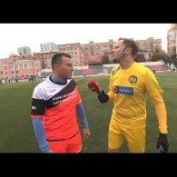 Артем Гагарин ведет репортаж с футбольного турнира кубка защитника Украины