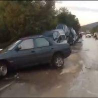 На час приїзду Путіна до окупованого Криму на півострові розгулялася стихія