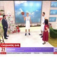 """Гравці баскетбольного клубу """"Динамо"""" в Сніданку з 1+1"""