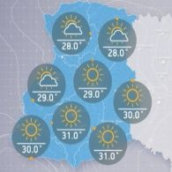 Прогноз погоды на четверг, утро 3 августа