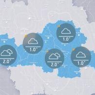 Прогноз погоди на вівторок, вечір 1 листопада