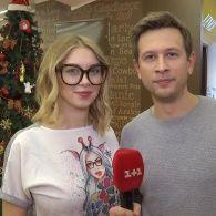 Новорічне привітання від Дмитра Ступки і його дружини Поліни Логунової