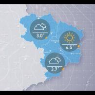 Прогноз погоди на вівторок, вечір 2 січня