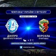 Чемпионат Украины 2015/16. 16 тур. Днепр - Ворскла - 0:2