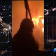 Масштабна пожежа знищила два багатоквартирні будинки на Київщині