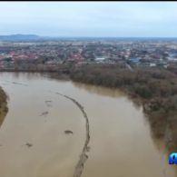 На Закарпатті рівень води у річці Уж піднявся до критичної точки
