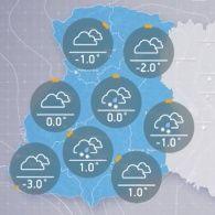 Прогноз погоди на четвер, ранок 15 грудня
