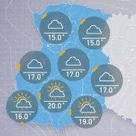 Прогноз погоди четвер, 29 вересня