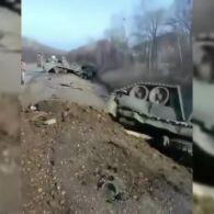 В РФ на трасі перевернувся танк
