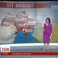 У проміжних виборах до Верховної Ради взяв участь 371 кандидат