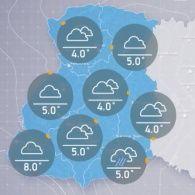 Прогноз погоди на вівторок, ранок 8 листопада