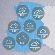 Прогноз погоди на понеділок, ранок  12 грудня