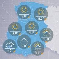 Прогноз погоды на четверг, утро 6 октября
