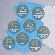 Прогноз погоди на вівторок, ранок  13 грудня