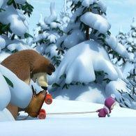 Маша и Медведь 1 сезон 10 серия. Праздник на льду