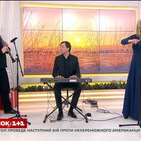 """Солістка проекту """"Українські Барви"""" Оксана Стебельська – у Сніданку з 1+1"""