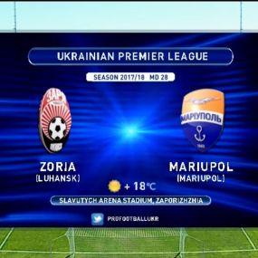 Матч ЧУ 2017/2018 - Зоря - Маріуполь - 3:1.
