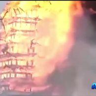У Китаї траур - вогонь знищив найвищу дерев'яну будівлю в Азії