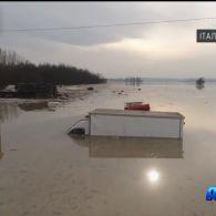 В Італії через сильні зливи з берегів вийшла річка Енза