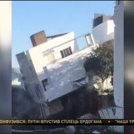 Шокуюче відео обвалення житлових будинків з мексиканського Монтеррея