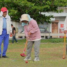 Як 80-літні японці грають в гольф