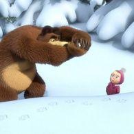 Маша и Медведь 1 сезон 4 серия. Следы невиданных зверей