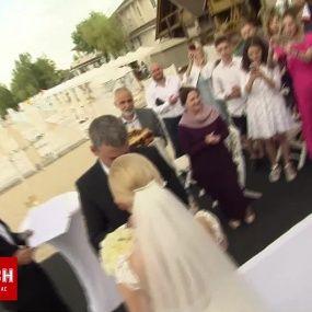 Відео з романтичної церемонії весілля Матвієнко та Мірзояна. Ексклюзив ТСН