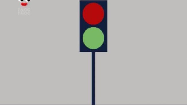 Додай уваги на дорозі 4 серія. Переходь дорогу тільки тоді, коли горить зелене світло для пішоходів!