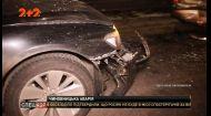 """У столиці п'яний чиновник на """"BMW"""" влетів у машини, які вже врізалися одна в одну"""
