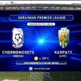 Матч ЧУ 2017/2018 - Чорноморець - Карпати - 1:1.