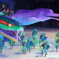Фестиваль Бой Мэй Бумба: танцы и огромные фигуры в виде животных
