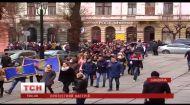 В Черновцах студенты протестуют против объединения вузов