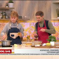 Крем-суп зі шпинату та бананові капкейки від Володимира Остапчука та  Дарії Дорошкевич