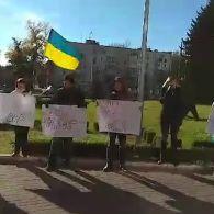 У Кам'янському робітники та активісти знову мітингують проти мера