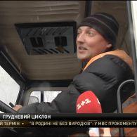 Сніговий циклон дійшов до України