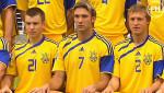 Сборная Украины. Тренер Михайличенко и Шевченко-игрок
