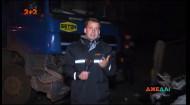 У столиці водій вантажівки протаранив хетчбек