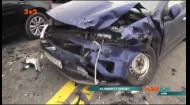 На столичному мосту Патона через одного водія в аварію потрапило чотири автомобілі