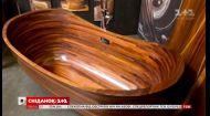 Американский мастер изготавливает уникальные ванны из дерева