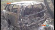 Машина грибників у Росії згоріла від перегрівання