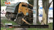 У середмісті Херсону КамАЗ зіштовхнувся з легковиком