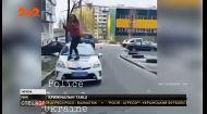 В Ровно школьница устроила танцы на капоте полицейской машины