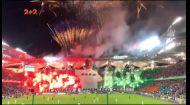 Футбольні фанати влаштували шалене фаєр шоу в Польщі